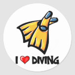 I Love Diving Stickers