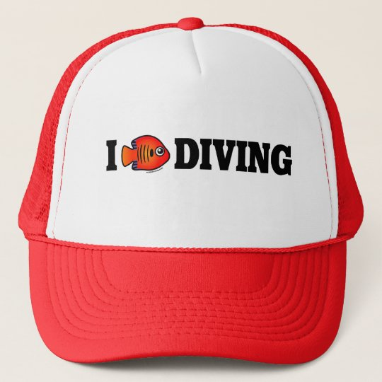 I Love Diving Trucker Hat