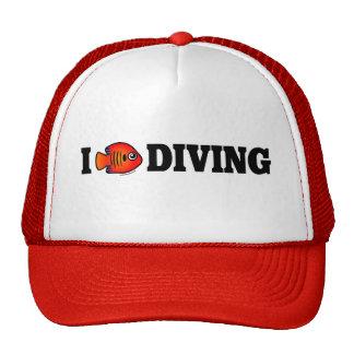 I Love Diving Trucker Hat