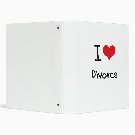 I Love Divorce 3 Ring Binders