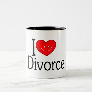 I Love Divorce Two-Tone Coffee Mug