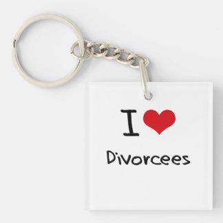 I Love Divorcees Single-Sided Square Acrylic Keychain
