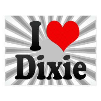 I love Dixie Postcard