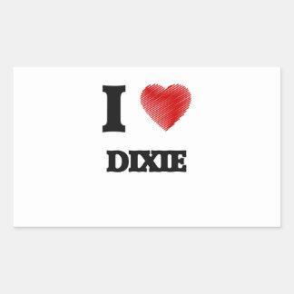I love Dixie Rectangular Sticker