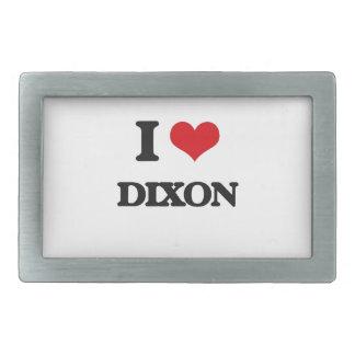 I Love Dixon Rectangular Belt Buckles