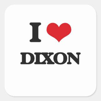 I Love Dixon Square Sticker