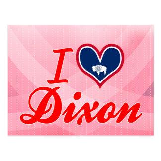 I Love Dixon, Wyoming Postcard