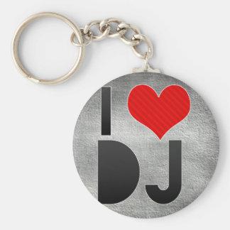 I Love DJ Key Chain