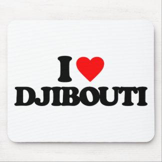 I LOVE DJIBOUTI MOUSE PADS