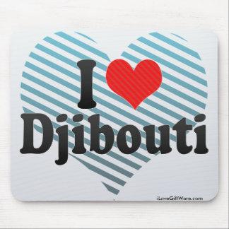 I Love Djibouti Mouse Pad