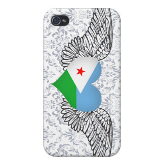I Love Djibouti -wings iPhone 4/4S Cover