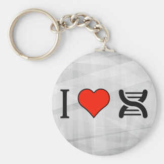 I Love Dna Keychain