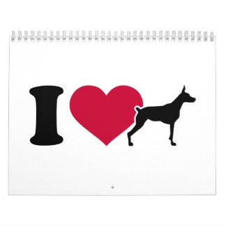I love Doberman Calendar