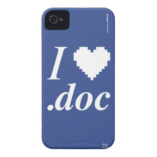 I Love .DOC iPhone 4 Case