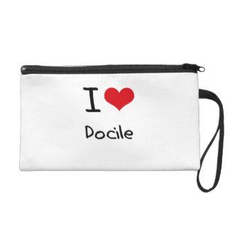 I Love Docile Wristlet Purse