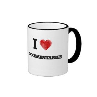 I love Documentaries Ringer Mug