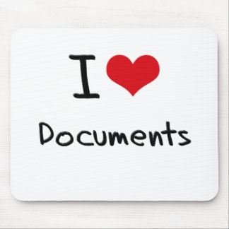 I Love Documents Mouse Pad