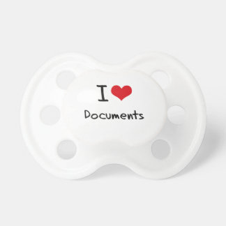 I Love Documents Pacifiers