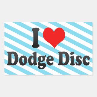 I love Dodge Disc Sticker