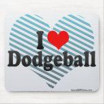 I Love Dodgeball Mouse Pad