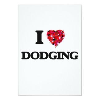 I love Dodging 3.5x5 Paper Invitation Card
