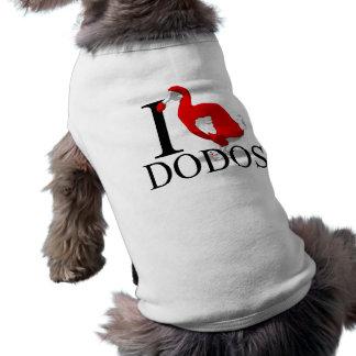 I Love Dodos Doggie's Pet Tee