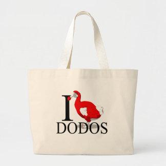 I Love Dodos Tote Bags