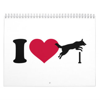 I love dog agility calendar