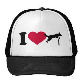I love dog agility trucker hat