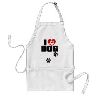 I LOVE DOG ADULT APRON