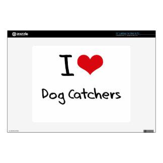 "I Love Dog Catchers Skins For 12"" Laptops"