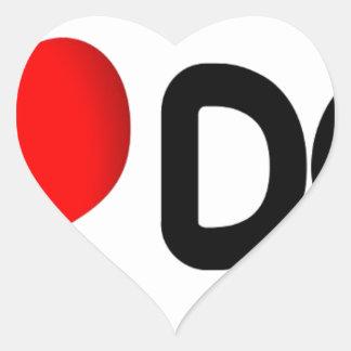 I Love Dog Heart Sticker