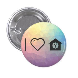 I Love Dog House 1 Inch Round Button