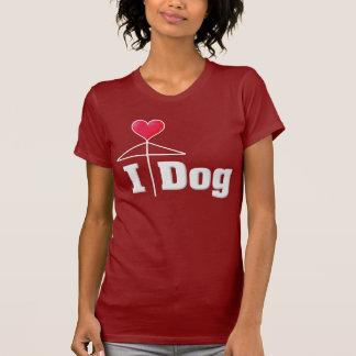 I Love Dog/Love Umbrella/Mistletoe2 White T-Shirt