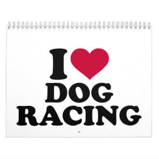 I love dog racing calendar