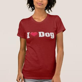 I Love Dog White T-Shirt