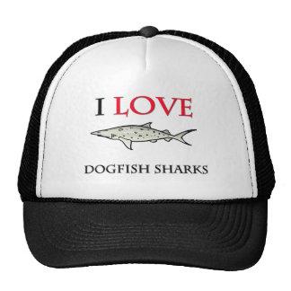 I Love Dogfish Sharks Hats