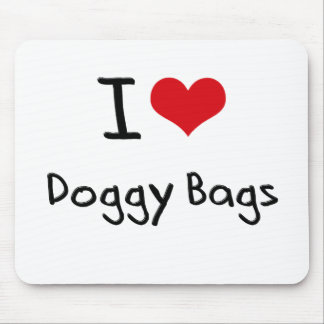 I Love Doggy Bags Mouse Pad
