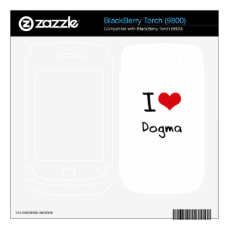 I Love Dogma Decals For BlackBerry