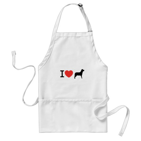 I love dogs adult apron