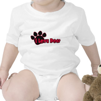 I Love Dogs Baby Clothes T Shirts
