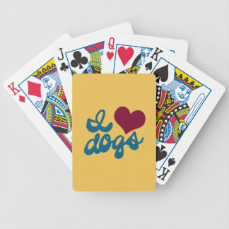 I Love Dogs Bicycle Playing Cards