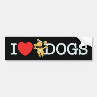 I Love Dogs Bumper Stickers