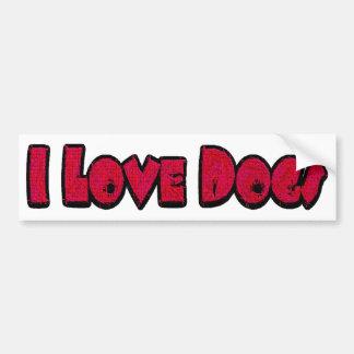I Love Dogs Bumper Sticker Car Bumper Sticker