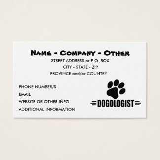 I LOVE Dogs Business Card