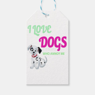 i love dogs it is people who annoys me gift tags