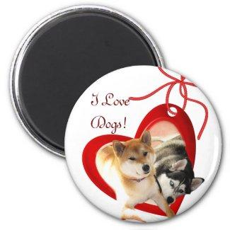 I Love Dogs Magnet magnet