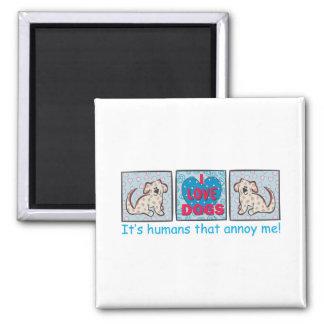 I Love Dogs Fridge Magnets