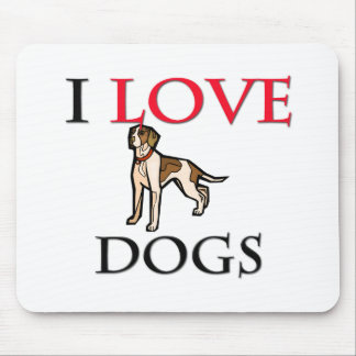 I Love Dogs Mouse Pads