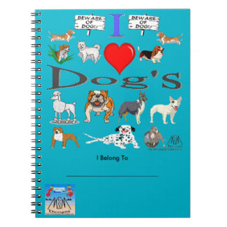 i love Dog's Notebook